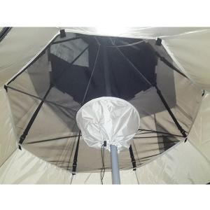 ・シングルルーフ構造のピルツに取り付けることで虫の侵入を防ぎ、寒い時期には暖かく過ごすことが可能にな...