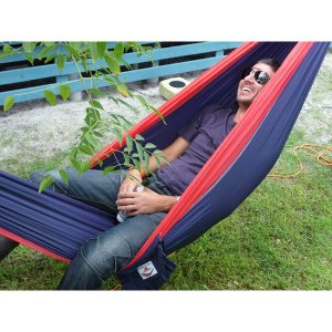 ハンモックブリス Hammock Bliss ハンモックブリス シングル ネイビー/レッド ハンモック 寝具 キャンプ 919607|vic2