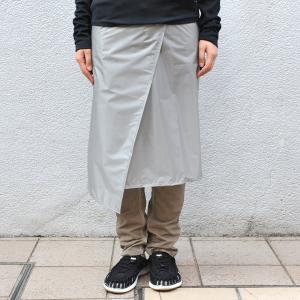 アンドワンダー and wander Womens sil skirt gray 0サイズ フライスカート 巻きスカート レインウェア 防水 レディース 2017FW|vic2