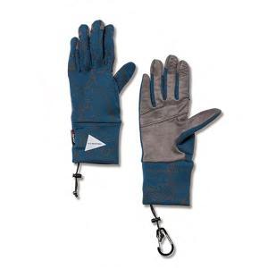 アンドワンダー and wander Womens polartec gloves blue 0サイズ ポーラテックグローブ レディース タッチパネル 2017FW|vic2