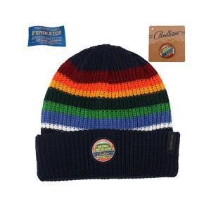 ペンドルトン PENDLETON N-Park Beanie C lake ナショナルパークビーニー ストライプ 帽子 vic2