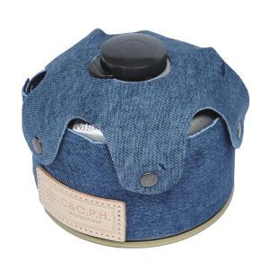 C&C.P.H EQUIPEMENT デニムレザーOD缶CASE 250g BLUE|vic2