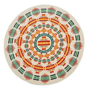 ペンドルトン PENDLETON Printed Round Towel Chief Joseph Ivory vic2