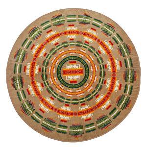 ペンドルトン PENDLETON Printed Round Towel Chief Joseph Khaki vic2
