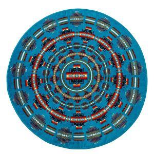 ペンドルトン PENDLETON Printed Round Towel Chief Joseph Turquoise vic2