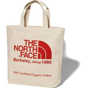 ノースフェイス THE NORTH FACE TNF Organic Cotton Tote ナチュラル × TNFレッド (TR) NM81908|vic2