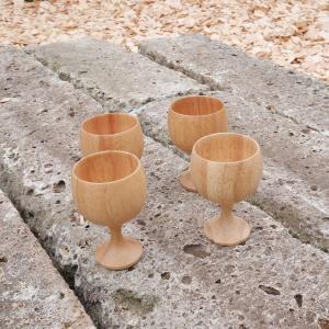 イーグルプロダクツ EAGLE Products Stemmed Woodencup 4pcs vic2