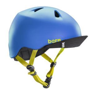 バーン Bern ヘルメット キッズ NINO(Visor付) Matte Blue ニーノ バイザー付き 子供用 ストライダー 自転車 vic2
