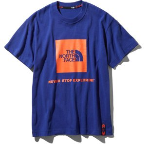 ノースフェイス THE NORTH FACE RAGE S/S Box Logo Tee アズテックブルー (AB)|vic2