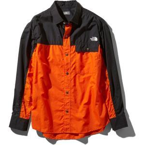 ノースフェイス THE NORTH FACE L/S Nuptse Shirt ペルシャオレンジ (PO)|vic2