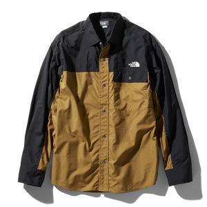 ノースフェイス THE NORTH FACE L/S Nuptse Shirt ブリティッシュカーキ (BK)|vic2