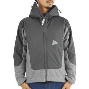 アンドワンダー and wander twill fleece jacket gray ツイルフリースジャケット アウター ミッドレイヤー 2017FW|vic2