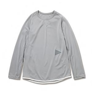 アンドワンダー and wander Womans dry jersey raglan long sleeve T light gray ドライジャージーラグラン 2017FW|vic2