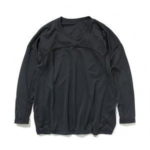 アンドワンダー and wander Womans dry jersey long sleeve T black ドライジャージーロングスリーブ レディース 2017FW|vic2
