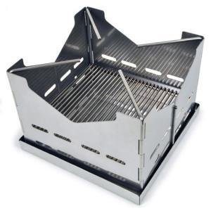 厚さわずか3cmの箱型ベースプレートに折りたたむことができる、錆びにくい1.2mm厚のステンレススチ...