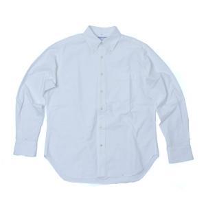 バンブーシュート BAMBOO SHOOTS Oxford B.D Shirt White オックスフォード シャツ 長袖 ボタンダウンシャツ コットン|vic2