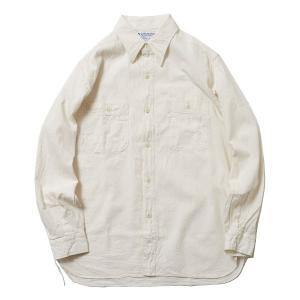 バンブーシュート BAMBOO SHOOTS Chambray Shirt White 5011703|vic2