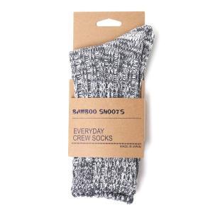 バンブーシュート BAMBOO SHOOTS Cotton Crew Socks Grey 1011705|vic2