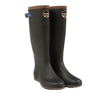 ウェットランド Wetland メンズ 折りたたみ長靴 ブルー ハンドメイド レインシューズ 雨の日 レイングッズ|vic2
