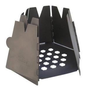 ◆商品概要:チタニウム ヘキサゴンウッドストーブ  超軽量6角形の折りたたみ式薪ストーブ。燃料はフィ...