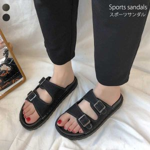 歩きやすい サンダル レディース 春夏 新作  さっと履けて靴擦れしにくい、涼しげで爽やかなサンダル...