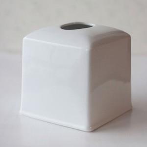 ポーセラーツ 白磁 インテリア スクエアティッシュボックスカバー (無くなり次第終了)|victoriadesign