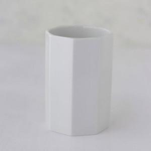 ポーセラーツ 白磁 インテリア 8角形タンブラー|victoriadesign
