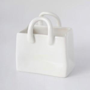 ポーセラーツ 白磁 インテリア ショッピングバッグ (S)|victoriadesign