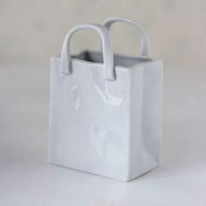 ポーセラーツ 白磁 インテリア ショッピングバッグ (縦型)|victoriadesign