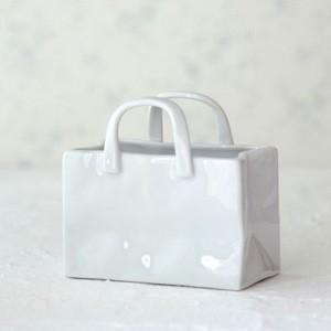 ポーセラーツ 白磁 インテリア ショッピングバッグ (横型)|victoriadesign