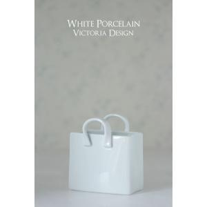 ポーセラーツ 白磁 インテリア - ショッピングバッグ (M)|victoriadesign|02