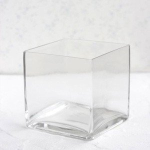 ポーセラーツ 白磁 インテリア スクエアガラスベース (無くなり次第終了)|victoriadesign