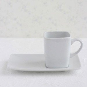 ポーセラーツ 白磁 食器 カフェスタイル カップ&ソーサー 北欧風