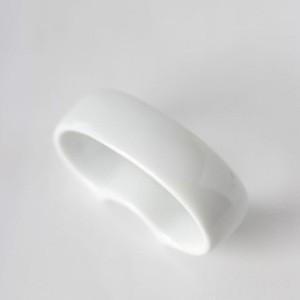 ポーセラーツ 白磁 テーブルコーディネート オーバルナプキンリング|victoriadesign