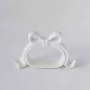 ポーセラーツ 白磁 テーブルコーディネート リボンナプキンリング|victoriadesign