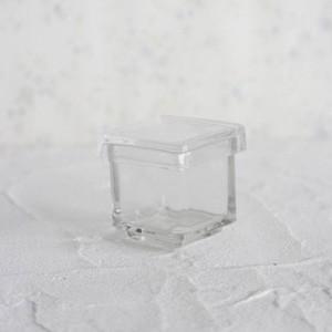 ポーセラーツ 白磁 雑貨 ガラススクエアBOX (S) 北欧風|victoriadesign
