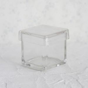 ポーセラーツ 白磁 雑貨 ガラススクエアBOX (L) 北欧風|victoriadesign
