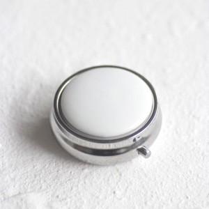 ポーセラーツ 白磁 雑貨 コンパクトケース (シルバー) 北欧風|victoriadesign