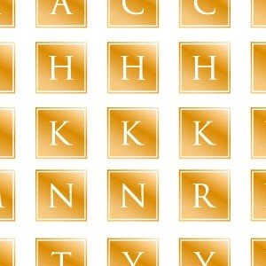 ポーセラーツ 転写紙 文字 ALPHABET MARK SQUARE (アルファベットマーク スクエア・メタリックゴールド)|victoriadesign