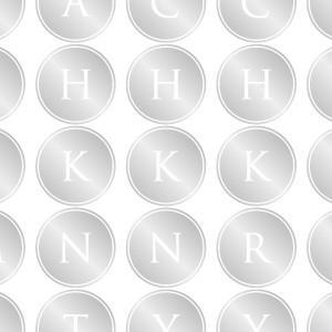 ポーセラーツ 転写紙 文字 ALPHABET MARK CIRCLE (アルファベットマーク サークル・プラチナ)|victoriadesign