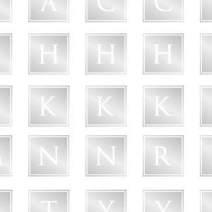 ポーセラーツ 転写紙 文字 ALPHABET MARK SQUARE (アルファベットマーク スクエア・プラチナ)|victoriadesign