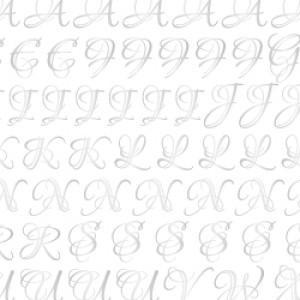 ポーセラーツ 転写紙 文字 LOUNA ALPHABET (S) (ルナアルファベット・プラチナ)|victoriadesign