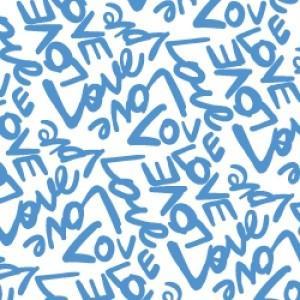 ポーセラーツ 転写紙 メッセージ - LOVE (ラブ・オーシャンブルー) victoriadesign