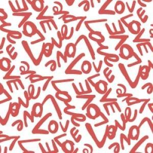ポーセラーツ 転写紙 メッセージ - LOVE (ラブ・ボルドー) victoriadesign