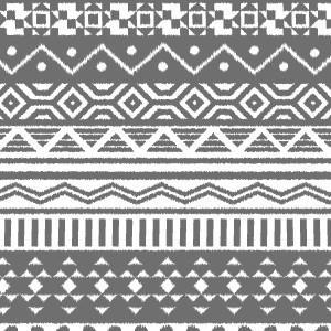 ポーセラーツ 転写紙 模様 NATIVE (ネイティブ・ダークグレー)|victoriadesign