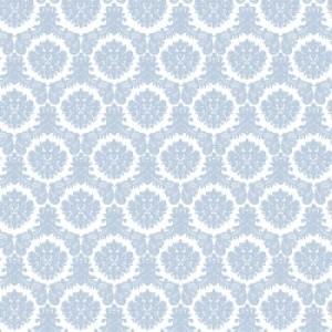 ポーセラーツ 転写紙 模様 AMOUR DAMASK (アムールダマスク・ライトグレイッシュブルー)|victoriadesign
