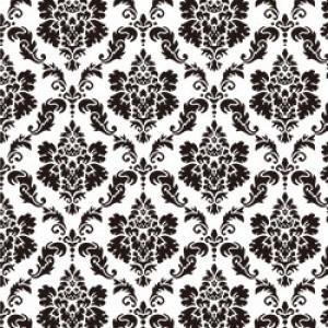 ポーセラーツ 転写紙 模様 DAMASK (S) (ダマスク・ブラック)|victoriadesign