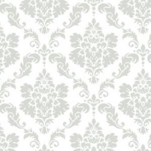 ポーセラーツ 転写紙 模様 DAMASK (M) (ダマスク・ライトグレー)|victoriadesign