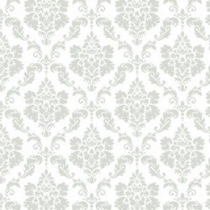 ポーセラーツ 転写紙 模様 DAMASK (S) (ダマスク・ライトグレー)|victoriadesign