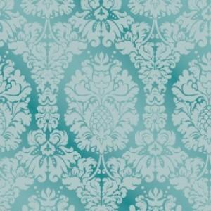 ポーセラーツ 転写紙 模様 GRAND DAMASK (グランドダマスク・ブルー)|victoriadesign